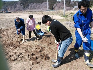 食育菜園を耕し始めた当初